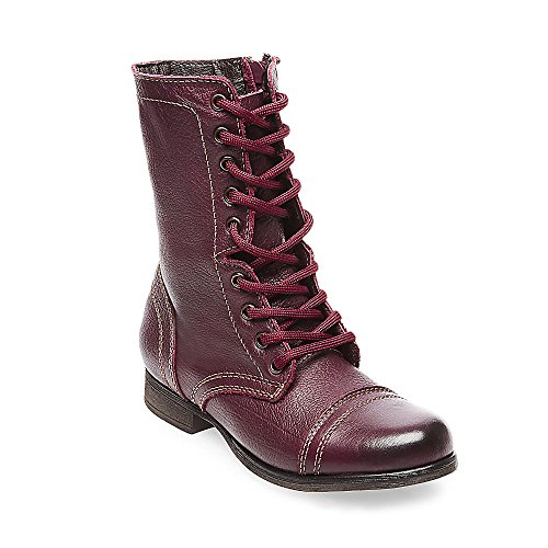 Women's Troopa Lace-Up Boot,Wine Leather,6.5 M US