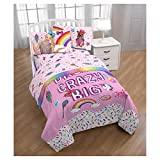 JoJo Siwa Twin Comforter and Pink Sheet Sets with Throw