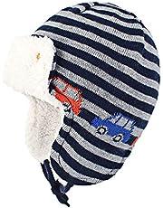 Askyorte Baby Toddler Boys Winter Hat Fleece Lined Knit Kids Cap