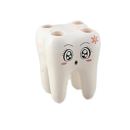 Chic * Mall soporte para cepillos de dientes niños creativos dibujos animados baño cepillo de dientes