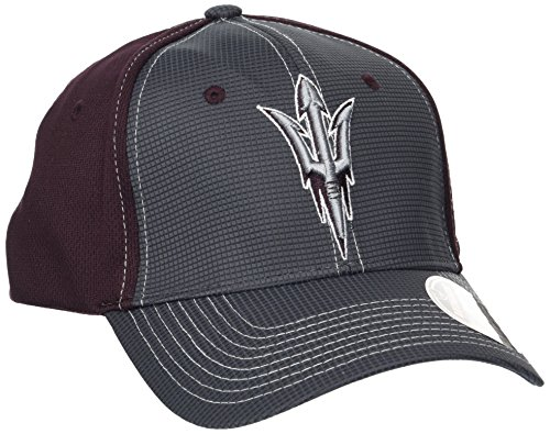 Zephyr NCAA Arizona State Sun Devils Adult Men Grid Cap, X-Large, Gray/Team Color ()