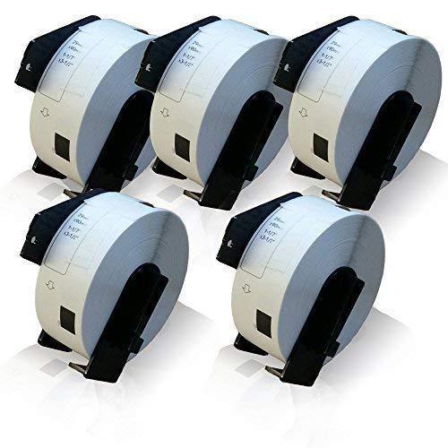 5x Compatibile Rotolo-Etichette per Brother DK-11201 P-Touch QL560VP QL560YX QL570 QL580P-Touch QL580N QL650TD QL700 QL710W QL720NW Etichette-Indirizzo 29 mm x 90 DK11201
