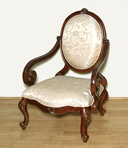solid-mahogany-upholstered-oversized-floral-occasional-arm-chair