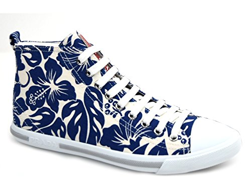 3t5731 bluette Sneaker Blu Bianco Prada Tessuto Scarpa Donna Art A0pqw