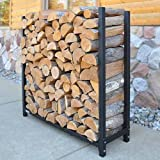 The Forever Firewood Rack | 1/2 Face Cord Expandable Heavy Duty Indoor or Outdoor Log Rack | Made In The USA