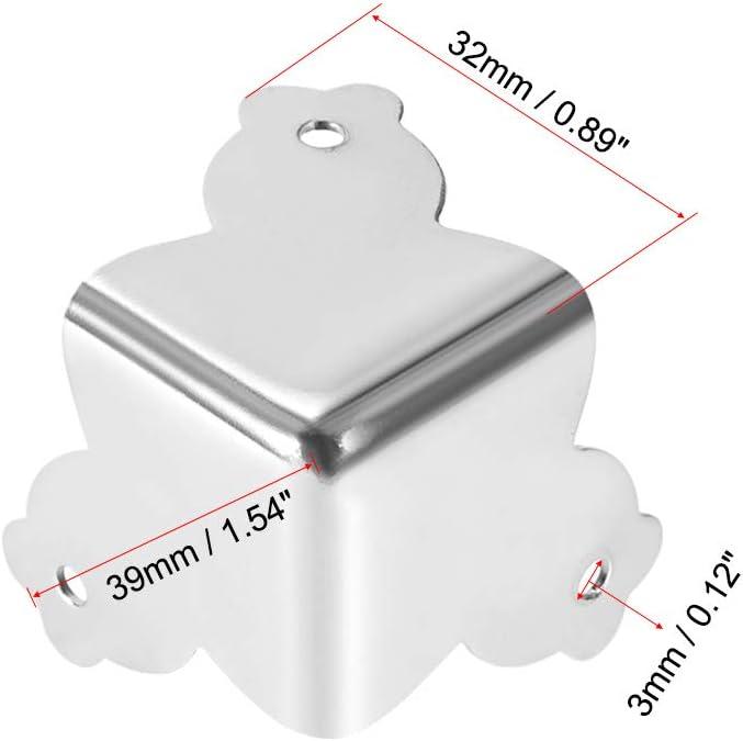 Sourcing Map Kantenschutz aus Metall 32x32x32mm-4pcs