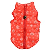 Mikey Store Pet Cartoon Cute Cloth Dog Cloth Dog Winter Cloth Pet Vest (Red, XS)