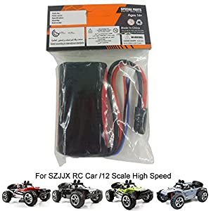 SZJJX Rechargeable Battery 7.4V 1500mAh High Capacity Battery Pack for SZJJX RC Cars 1/12 Scale 4WD High Speed Vehicle 35MPH+ 2.4Ghz Off Road Racing Monster Trucks Buggy with LED Light Vision SJ1513