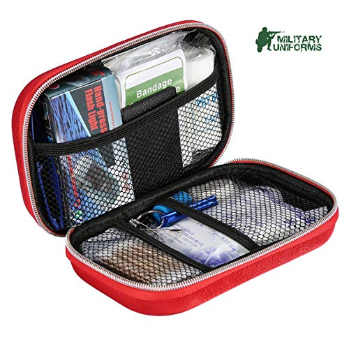 First aid kit,All-Purpose aid kit and Compact Emergency kit first aid for office,aid Kit medical for Outdoors,travel Medical kit Hiking first aid kit and Camping Emergency kit,Home first aid kit by MILITARY UNIFORMS