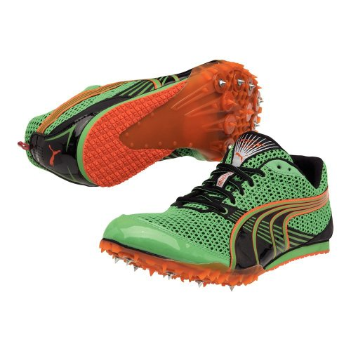 Puma Running-Schuh COMPLETE TFX DISTANCE 3 classic green-black-vermillion orange, Größe Puma:14