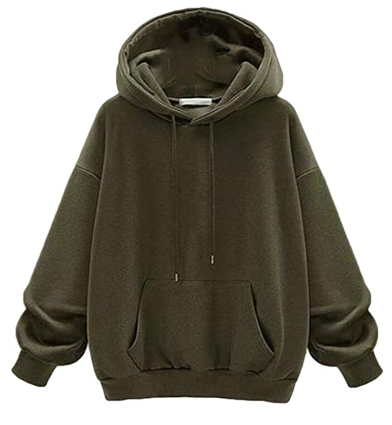 c2c6e998d UUYUK Women Plus Size Loose Hoodie Pullover Kangaroo Pocket Fleece ...