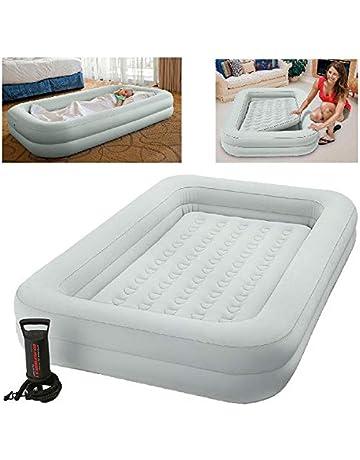 INTEX 12 – 66810 NP Kidz Travel Bed Set, Phthalates Free con Bomba de Mano