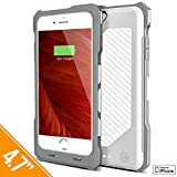 iPhone 6S / 6 Battery Case, iPhone 7 Battery Case, Alpatronix BX150 (4.7-inch) RUGGED SHOCKPROOF 3500mAh Slim Protective Portable Rechargeable Charging Case for iPhone 7 6S 6 [MFi Certified] - White