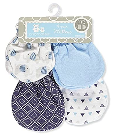 Cribmates Baby Boys 4-Pack Scratch Mittens