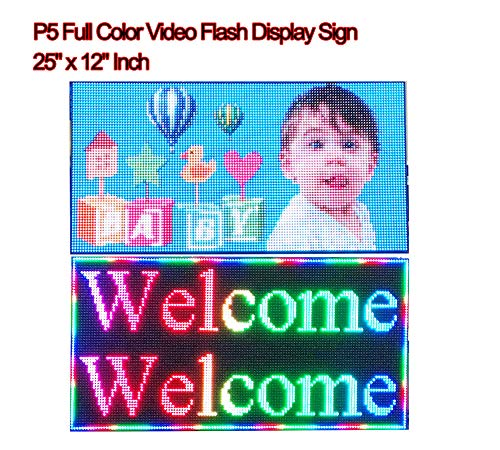 Display Scrolling Message Led Sign - Video Full Color High Definition P5 LED Sign 25