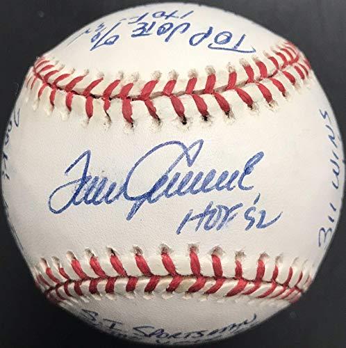 Tom Seaver Signed Ball - 17 Stat Inscribed National League COA - JSA Certified - Autographed Baseballs
