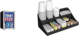Danby DBC026A1BSSDB Beverage Center & Mind Reader 11 Compartment Breakroom Coffee Condiment Organizer, Black