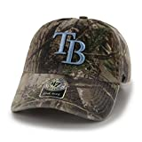 '47 MLB Tampa Bay Rays Clean Up Adjustable Hat, One Size, Realtree Camouflage