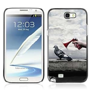 YOYOSHOP [Funny Pigeon] Samsung Galaxy Note 2 Case