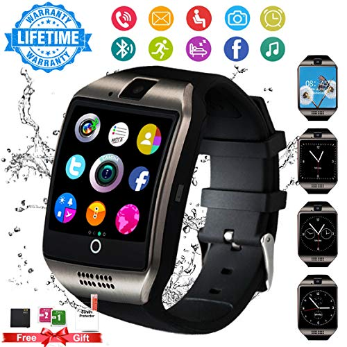 Android Smart Watch for Women Men, 2019 Bluetooth Smartwatch Smart Watches Touchscreen with Camera, Cell Phone Watch with SIM Card Slot Compatible Android Samsung iOS Phones XS 8 7 6 Note 8 9 Adult (Android Watch With Sim Card)