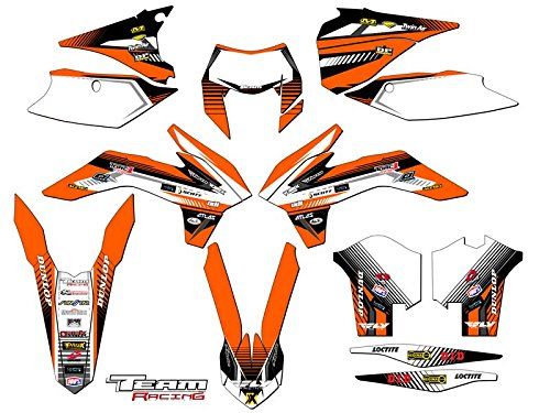 Team Racing Graphics kit for 2014 KTM EXC, ANALOGComplete kit