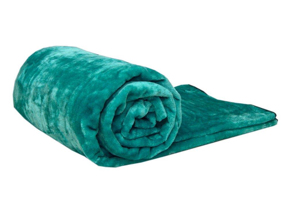 SEVE 150 x 200 cm Teal Doppel Fellimitat Nerz Decke Schlafsofa Werfen warmen Fleece Soft