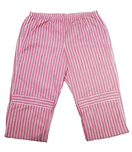 Striped Pants Pajama Flannel (The Flannel PJ Cotton Relaxed Fit Sleep Pants (Large, Striped Blush Pink))