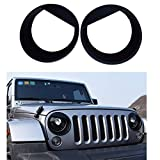Pair of Front Light Headlight Trim Cover for Jeep Wrangler Accessories 2007-2017