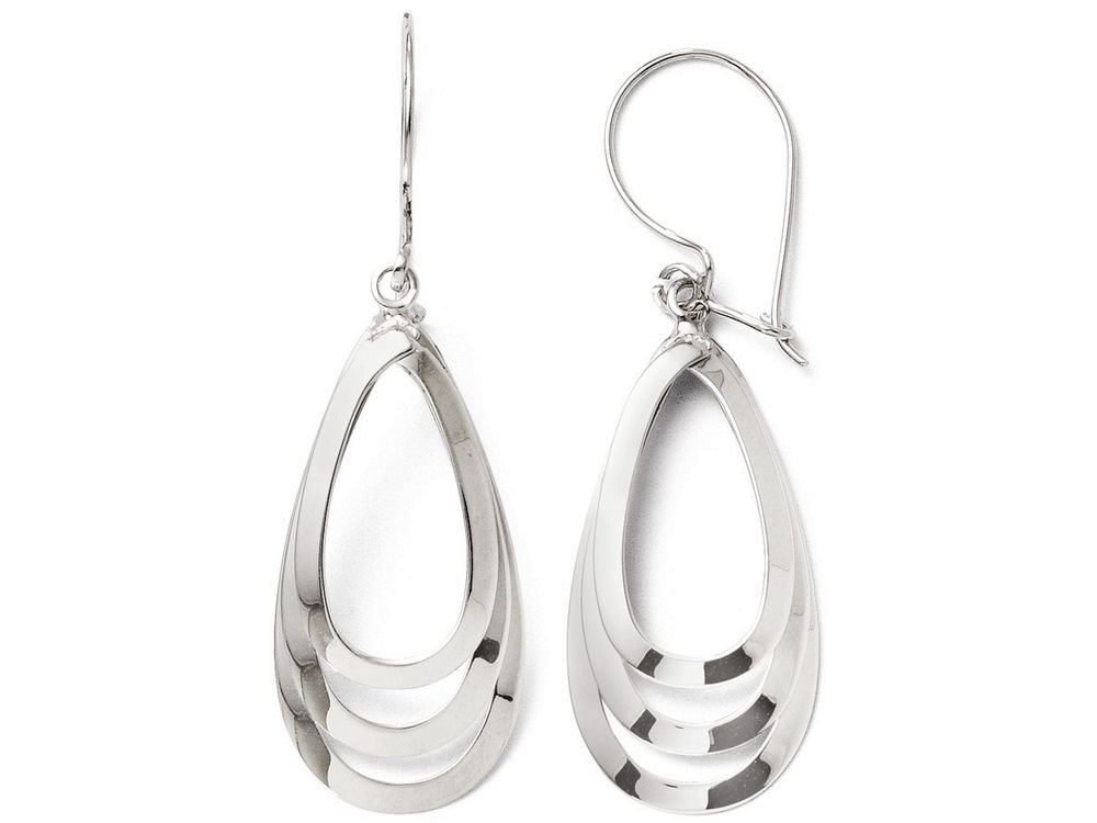 Finejewelers 14k White Gold Polished Dangle Earrings