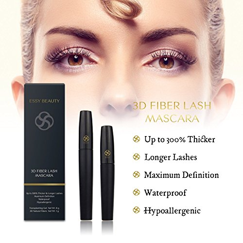 Amazon.com : Rímel Para Alargar Y Engrosar Pestañas Con Fibras 3D - Mascara Impermeable - Color Negro : Beauty