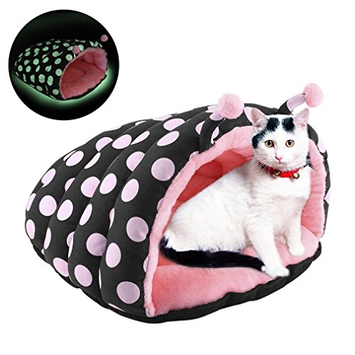 Cheap NiceHyacinth Luminous Cuddle Pouch Pet Bed, Dog Cave, Comfy Pure Cotton Covered Hooded Pet Bed, Cosy, For Burrower Cats and Puppies