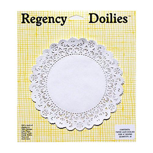 (Regency Wraps Elegant Paper Lace Doilies, RW0027, 8