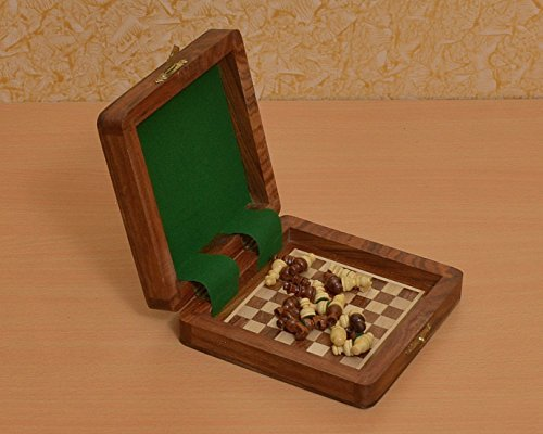 Chessbazaar Traveling Book Type Magnetic Chess Set 5 X 5 Inches