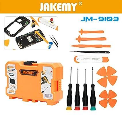 elecguru jm-9103 18 en 1 portátil DIY funda para teléfono Soporte de mantenimiento herramientas