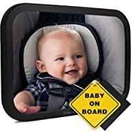 Baby Back Seat Mirror for Car - Best Mirror For View of Rear Facing Infant, N...
