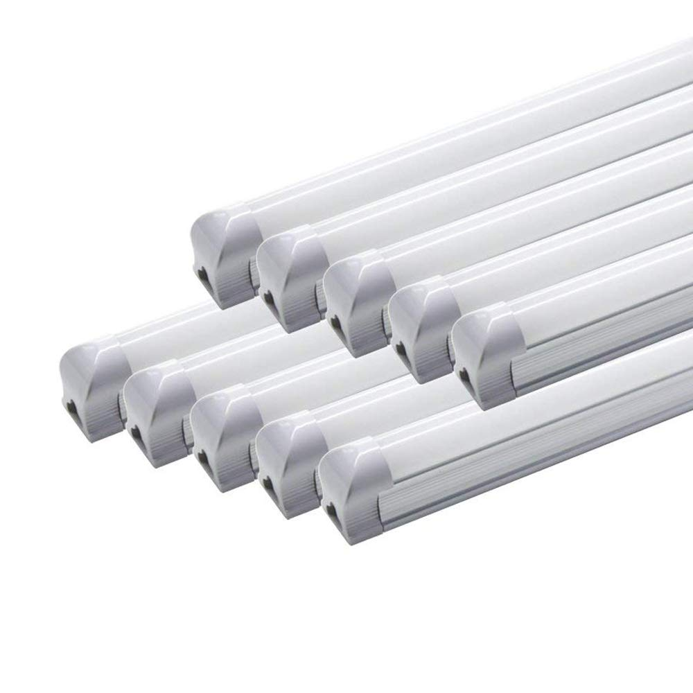 LED蛍光灯 器具一体型 40W形 直管 昼白色 120cm 85~265V G13 T8 高輝度 省エネ 40W相当 広角 グロー式工事不要 LEDランプ 一年保証付き (10本セット) B07FBCSLLH  10本セット