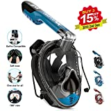 DOUPRO Snorkel Mask Universal Size Easybreath Snorkeling Mask 180° Panoramic View Ear Pressure Balance Anti-fog Anti-leak Fit Perfectly and Comfortably for ALL - 2018 Latest Upgrade