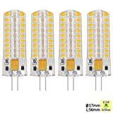Sunix 6.5W G4 LED Bulbs, 72 2835 SMD LED, 50W Halogen Bulbs Equivalent£¬ 320lm, Dimmable, Warm White, 3000K, 360 Degree Beam Angle, Silicone Corn Bulb, Pack Of 4 Units [Energy Class A] SU142