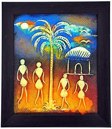 Orissa pintura de papel maché hecho a mano por artesanos de la ...
