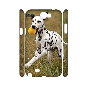 Animals play ball Custom 3D Cover Case for Samsung Galaxy Note 2 N7100, Custom Animals play ball 3D Cell Phone Case
