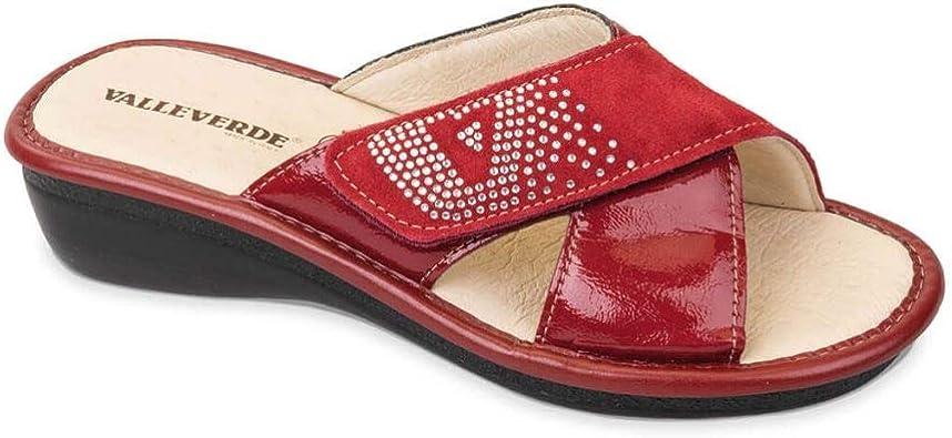 VALLEVERDE 37101 Sandali ciabatte donna pelle vernice