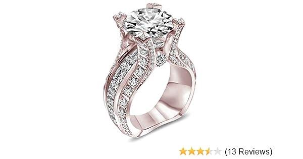 Amazon Com Aunyamanee Jewelry Fashion Women 18k Rose Gold Filled