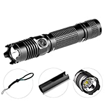 Olight M1X 1000 Lumens Cree XM L2 LED Tactical Flashlight, Dual Switch Tail Switch Variable Output Super Bright Light, Portable for Outdoor EDC (No Battery Included)