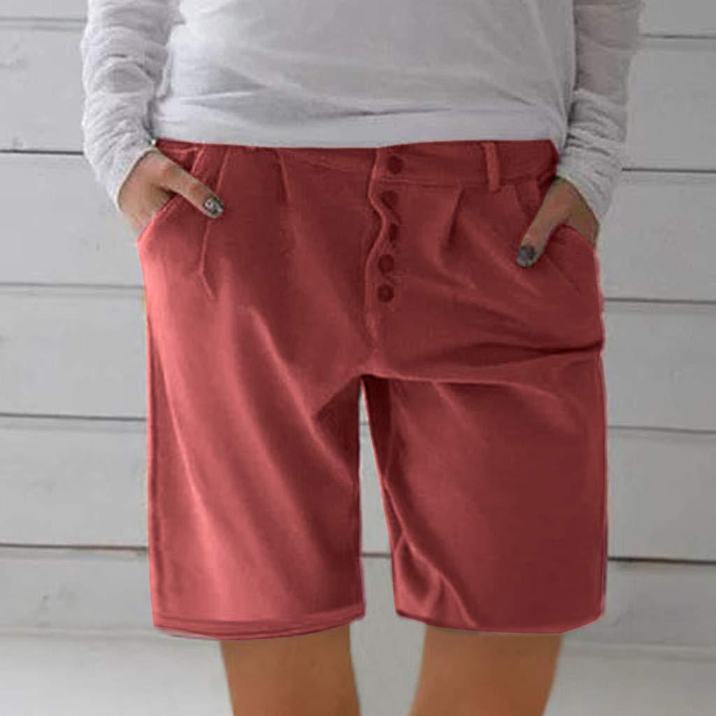 SMILEQ Moda Mujer Pantalones Botones sólidos Pantalones Chaquetas ...
