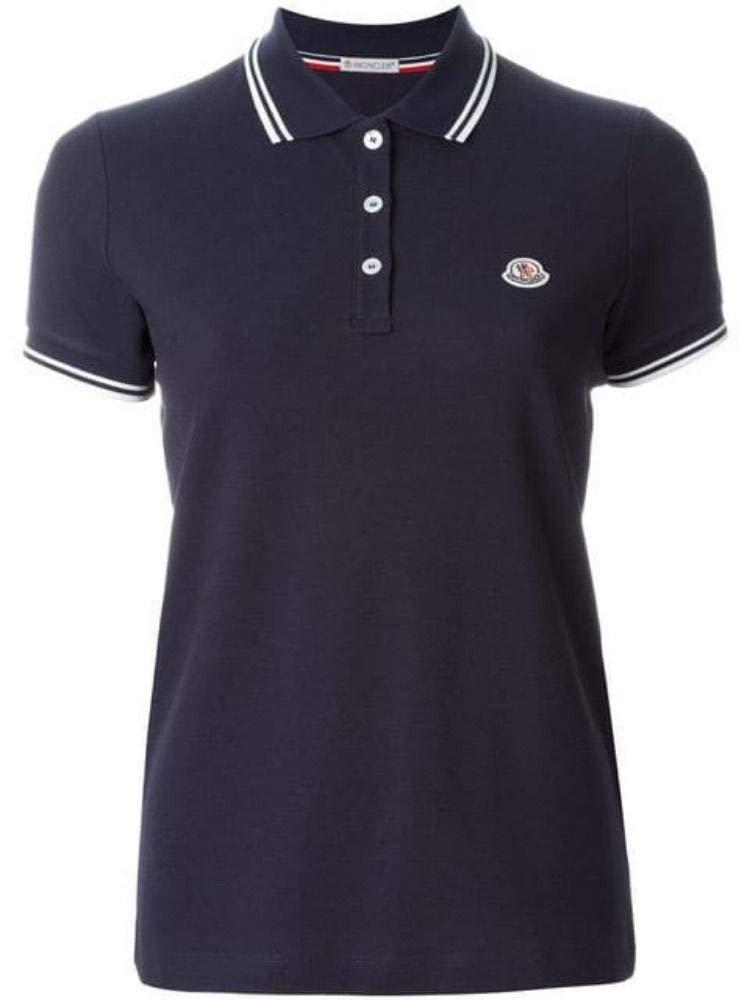 Moncler Women's 838600084667778 bluee Cotton Polo Shirt