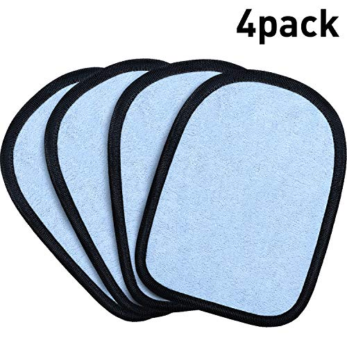 Remover Mitts - Hsei 4 Pieces Beach Sand Cleaner Sand Mitt Remover Sand-Off Mitt Wipe Sand Mitt for Summer Beach Supplies (Light Blue)