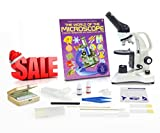 Vision Scientific VME0006-RC-P2 Monocular Compound Microscope, 40x-400x Magnification, LED, Microscope Book, Microscope Discovery Kit, 25 Prepared Slides Set, Free Gift Package ($10 Value)