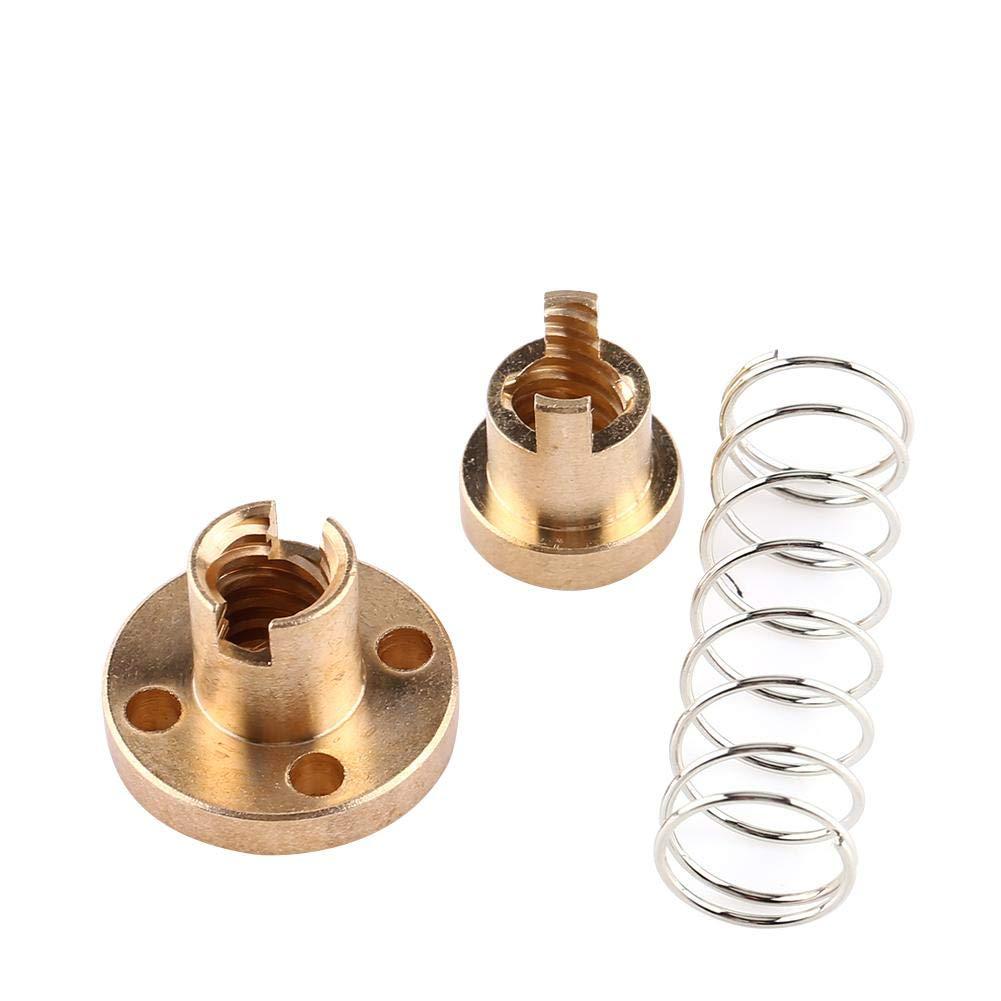 Anti-Contragolpe Cargado para T8 Plomo Tornillo CNC 3D las Piezas de Impresora 8 mm 0.31 Tuerca de Lat/ón con Resorte
