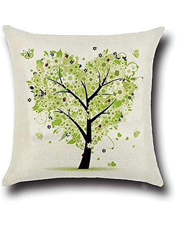 MINMINA Funda de cojín para Coche árbol de Vida Abrazo Funda de Almohada sofá Funda de