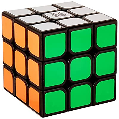 MoYu YJ Aolong 3 X 3 Black Speed Cube Puzzle: Toys & Games